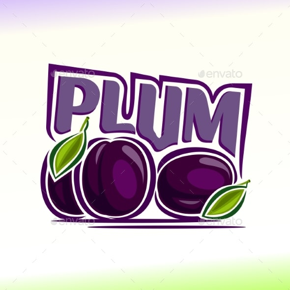 Vector Logo for Plum - Food Objects