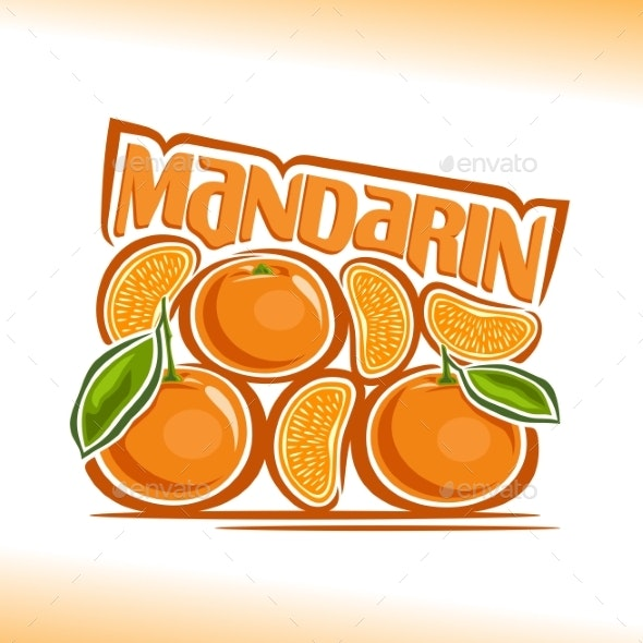 Vector Logo for Mandarin - Food Objects