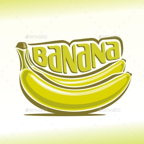 Vector Logo for Banana - Food Objects