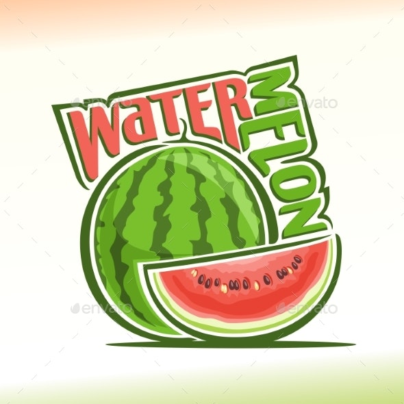 Vector Logo for Watermelon - Food Objects