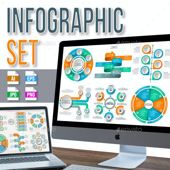 Set of ten infographics