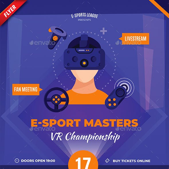 VR Championship Business Flyer