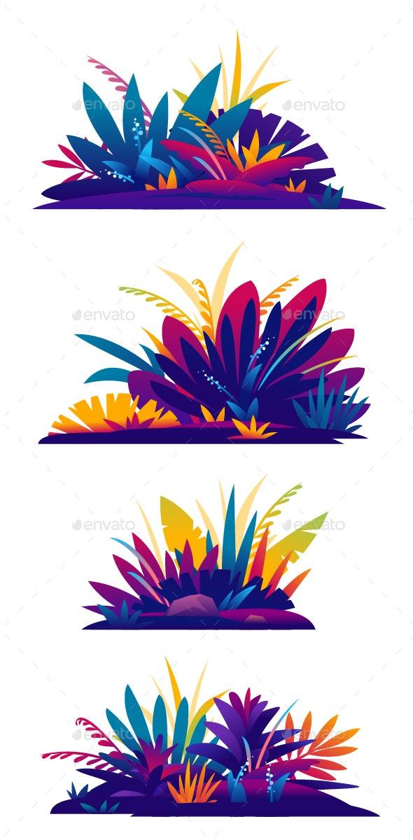 Set of Jungle Plants - Flowers & Plants Nature
