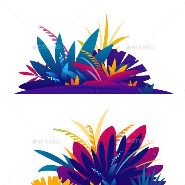 Set of Jungle Plants