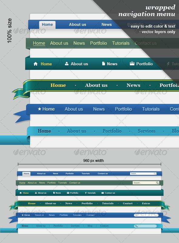 Wrapped Navigation Menu - Web Elements