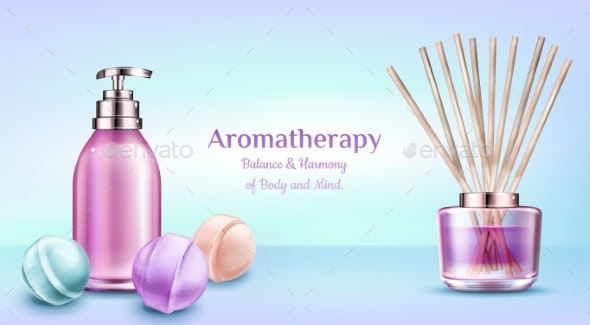Aromatherapy Spa Treatment Cosmetic Beauty Banner - Health/Medicine Conceptual