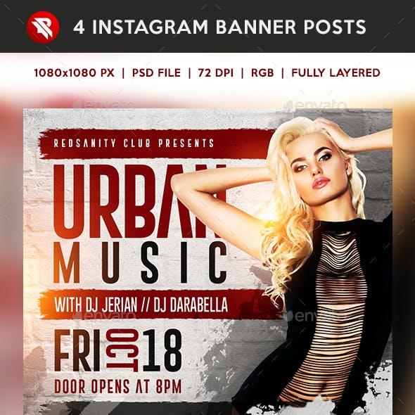 Urban Music Instagram Banner Posts