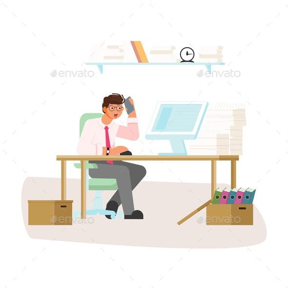 Workaholism Addiction Concept - Computers Technology