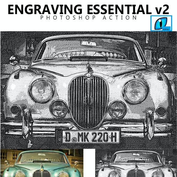 Engraving Essential V2  Photoshop Action