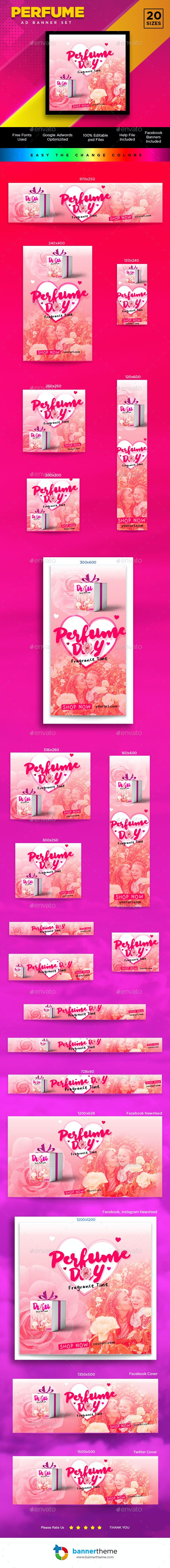 Perfume & Cosmetic Banner - Banners & Ads Web Elements