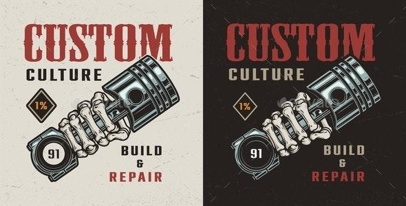 Vintage Motorcycle Workshop Badge - Miscellaneous Vectors
