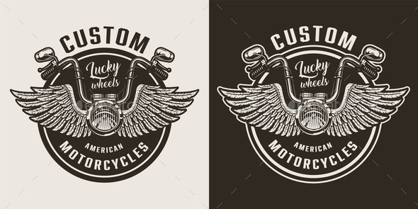Custom Motorcycle Emblem - Miscellaneous Vectors