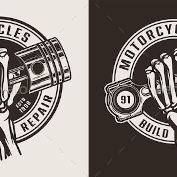 Vintage Motorcycle Workshop Logo