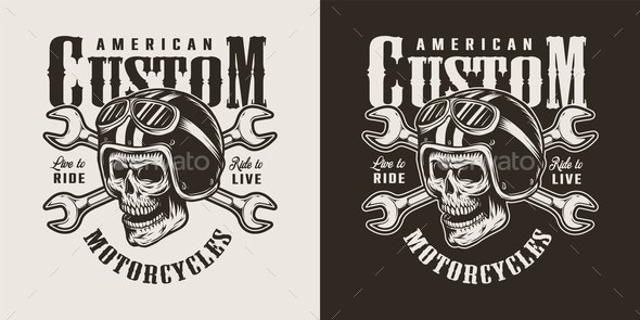 Vintage Motorcycle Shop Logo By Imogi Graphicriver