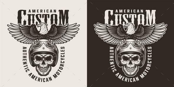 Vintage Custom Motorcycle Badge - Miscellaneous Vectors
