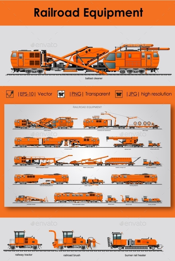 Railroad Equipment - Man-made Objects Objects