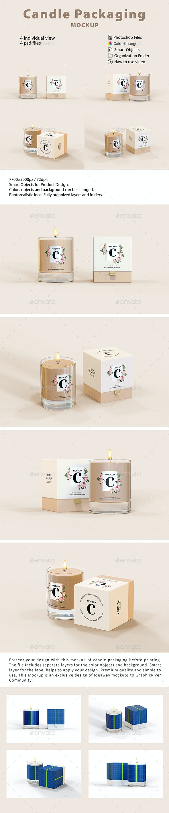 Candle Packaging Mockup - Beauty Packaging