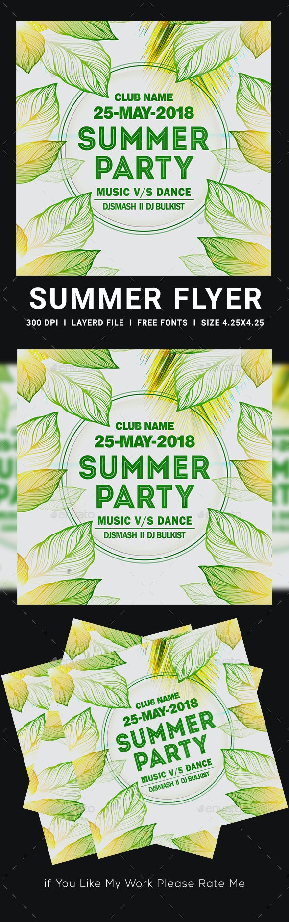Summer Party Flyers - Clubs & Parties Events