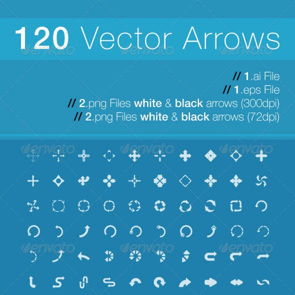120 Unique Vector Arrows