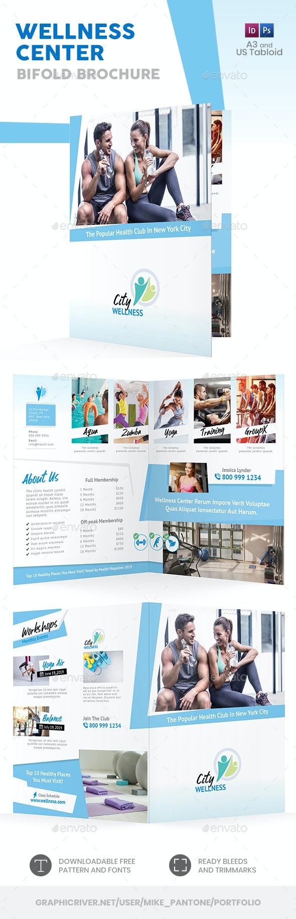 Wellness Center Bifold / Halffold Brochure 2 - Informational Brochures