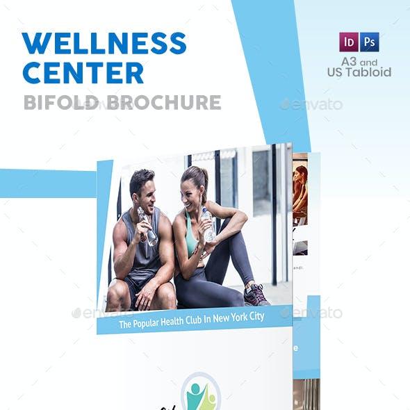 Wellness Center Bifold / Halffold Brochure 2