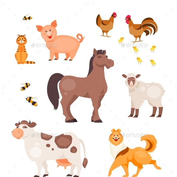 Cartoon Pets Vector