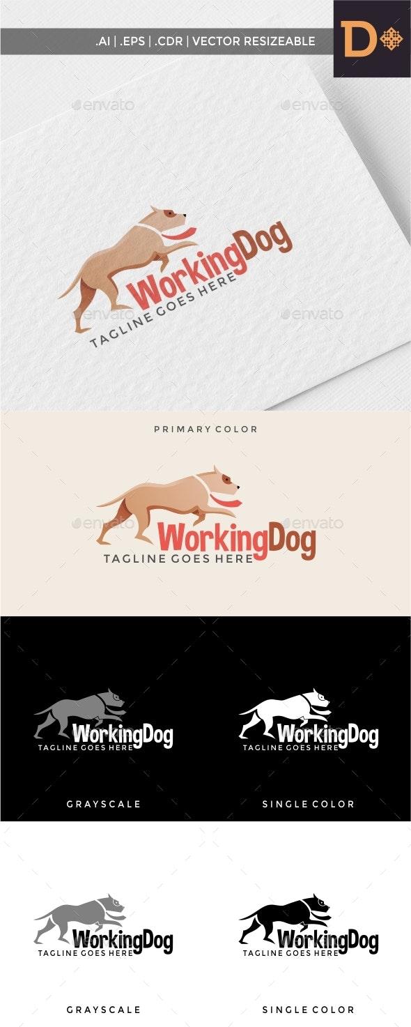 Working Dog Logo Template - Animals Logo Templates