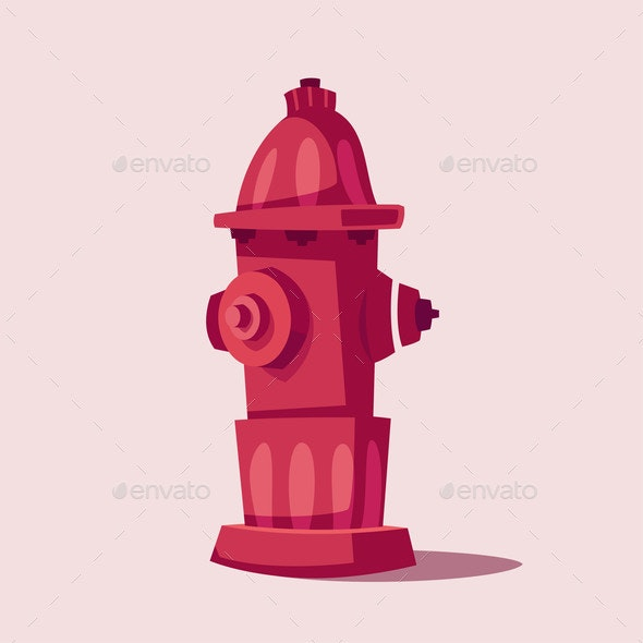 Cartoon Fireplug - Miscellaneous Vectors