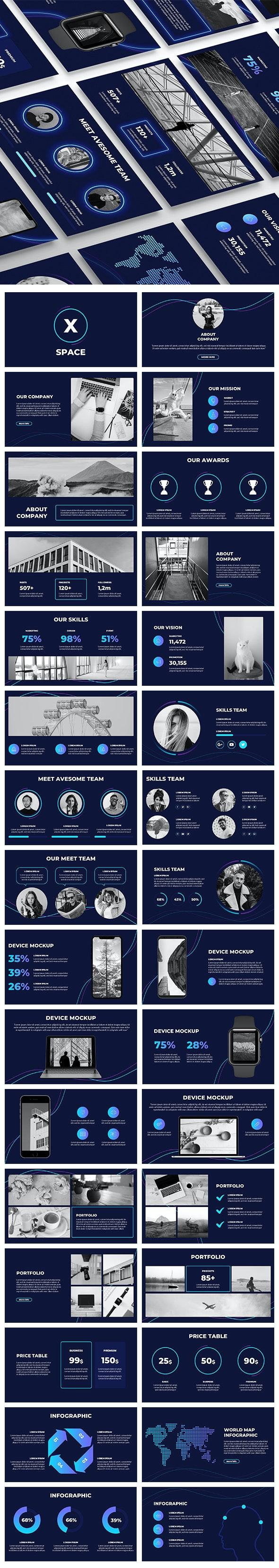 SpaceX Keynote Template - Business Keynote Templates