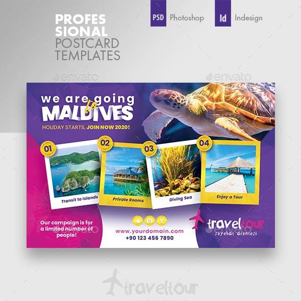 Travel Tours Postcard Templates