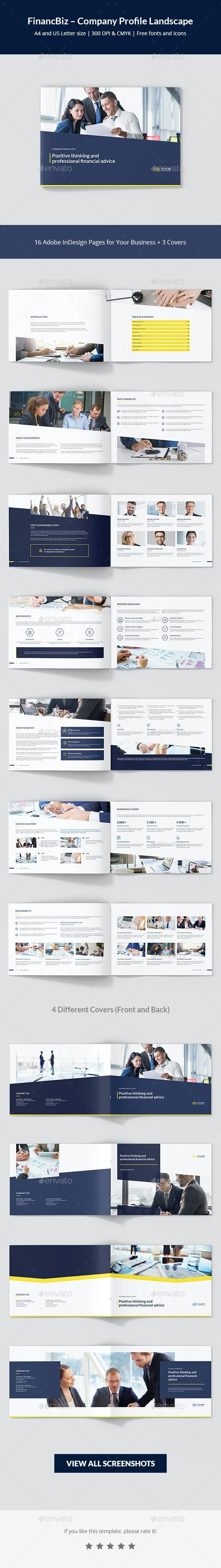 FinancBiz – Company Profile Landscape - Corporate Brochures