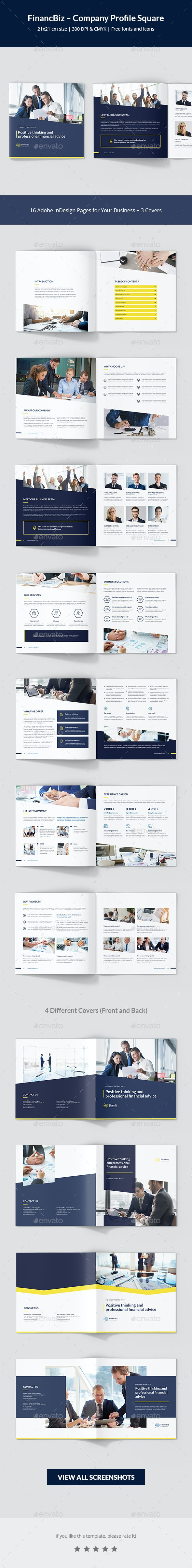 FinancBiz – Company Profile Square - Corporate Brochures