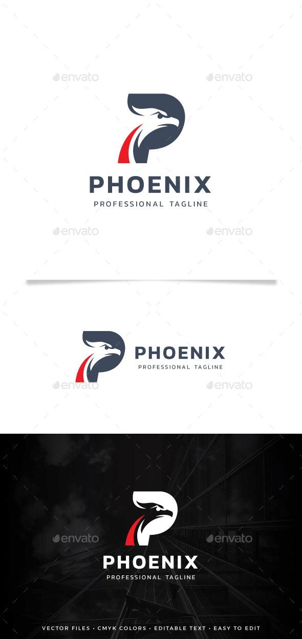 Letter P - Phoenix Logo - Animals Logo Templates