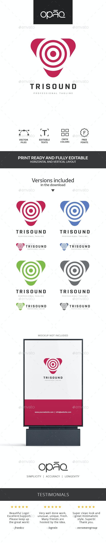 Triangle Sound Logo - Symbols Logo Templates