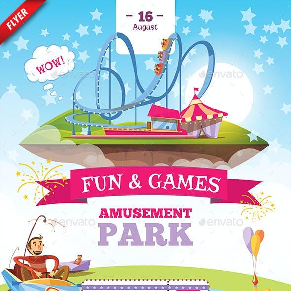 Amusement Park Business Flyer