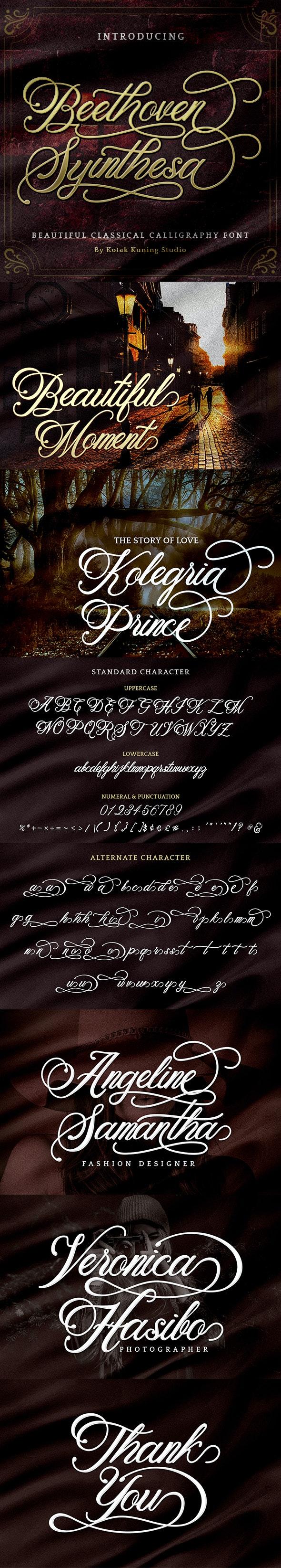 Beethoven Syinthesa - Calligraphy Script