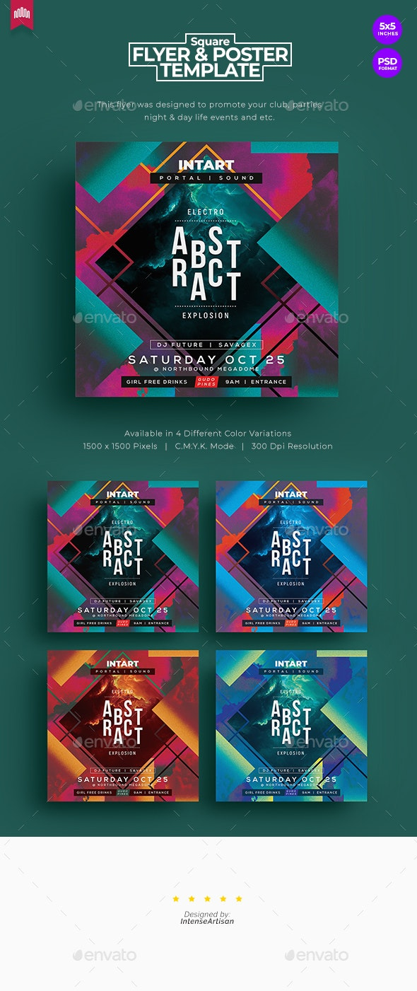 Abstract - Square Flyer - Clubs & Parties Events