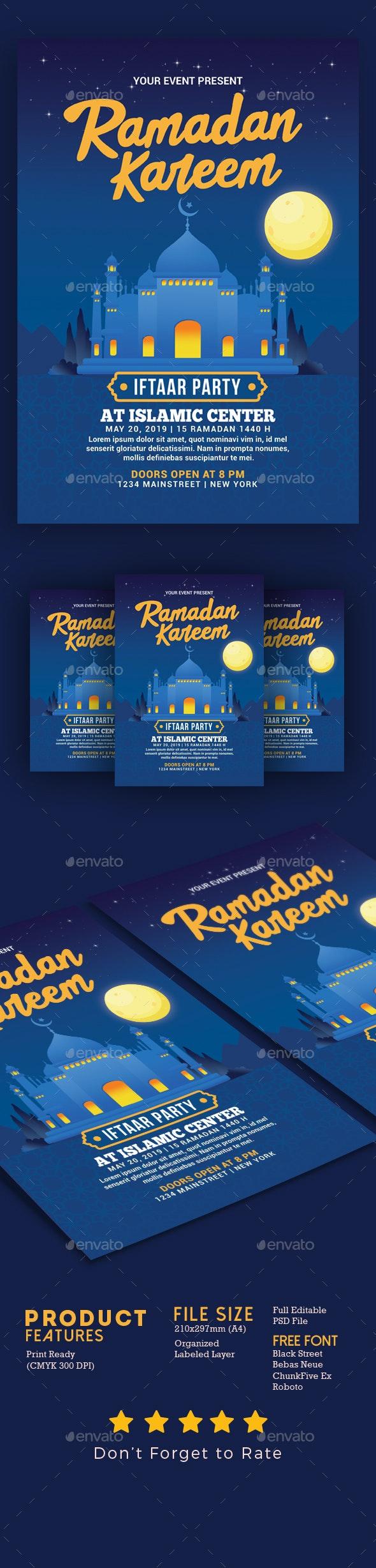 Ramadan Kareem Iftaar Party Flyer - Events Flyers