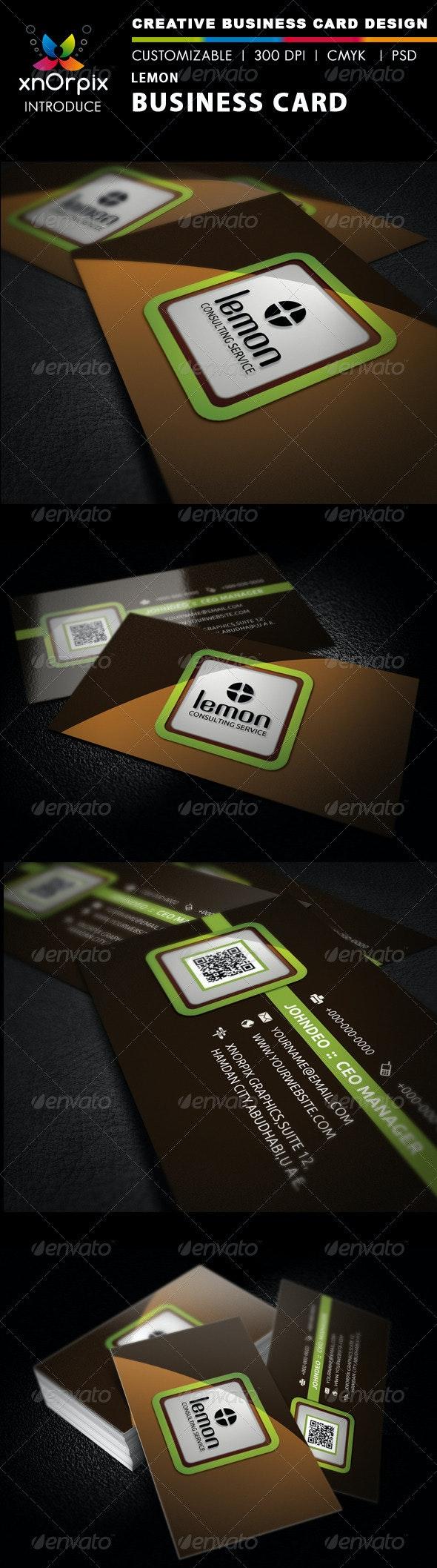 Lemon Business Card - Business Cards Print Templates