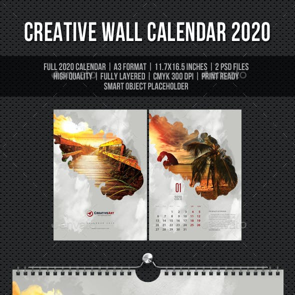 Creative Wall Calendar 2020 V10