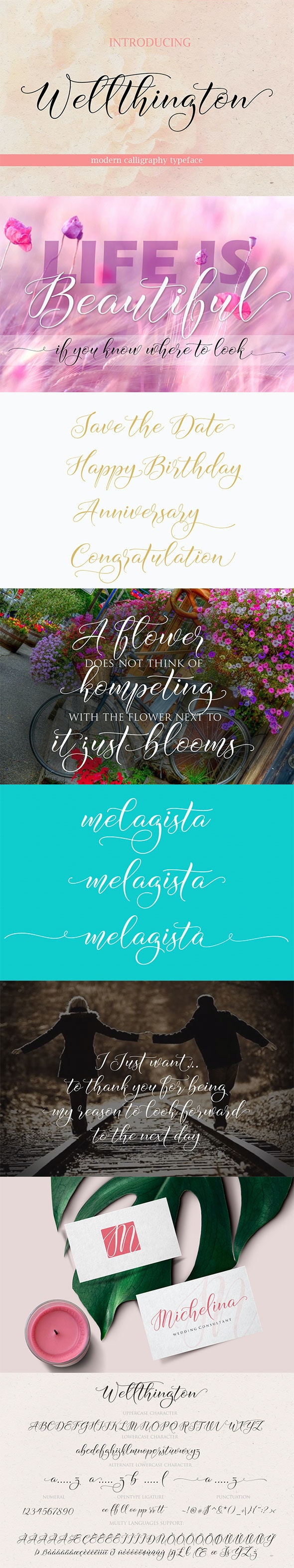 Wellthington Script - Script Fonts