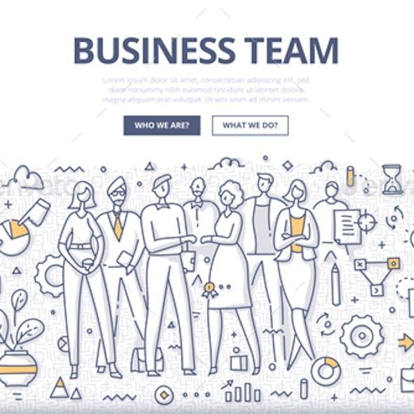Business Team Doodle Concept