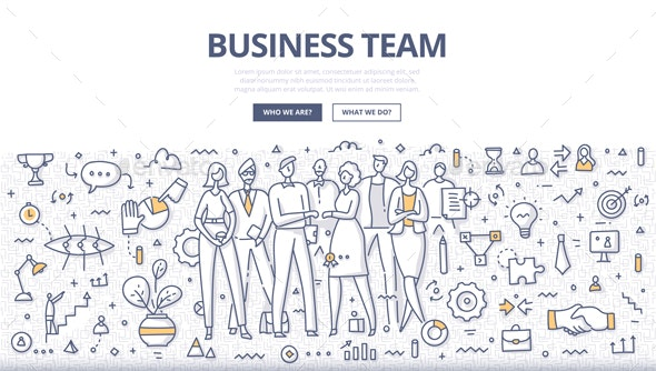 Business Team Doodle Concept - Concepts Business