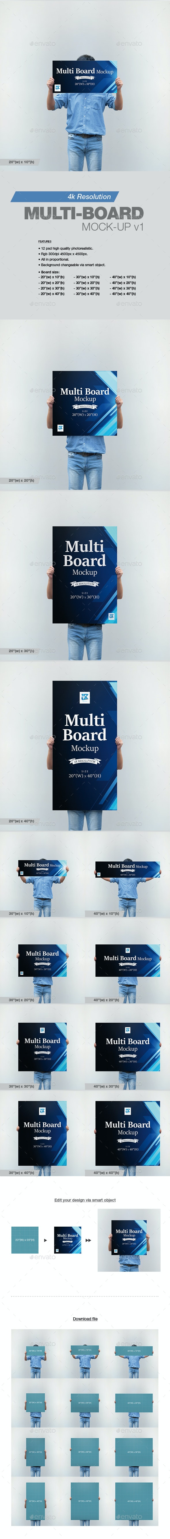 Multi-board Mock-up v1 - Print Product Mock-Ups
