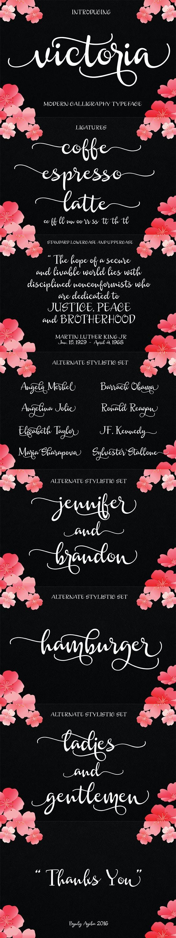 Victoria Script - Script Fonts