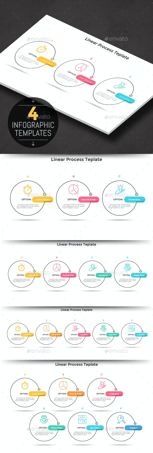 Modern Infographic Process Templates - Infographics