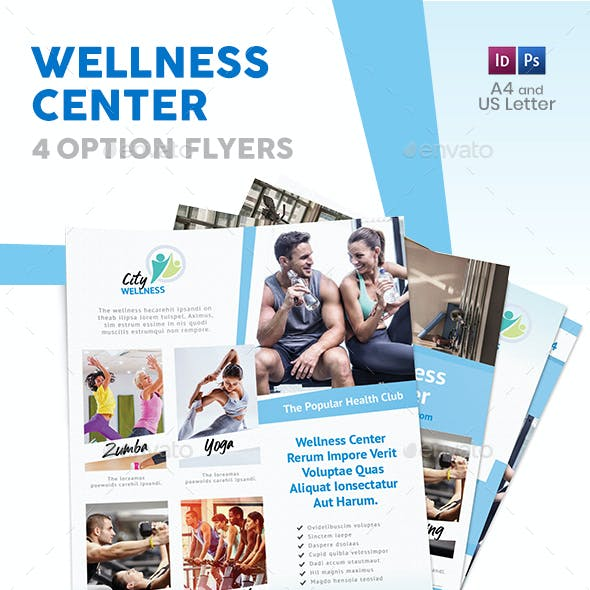 Wellness Center Flyers 2 – 4 Options