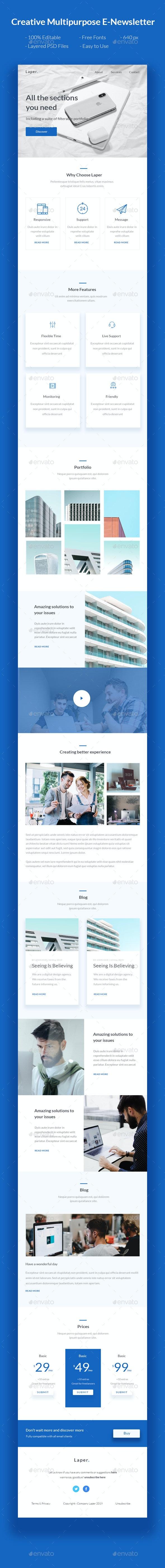 Laper - Creative Multipurpose E-Newsletter - E-newsletters Web Elements
