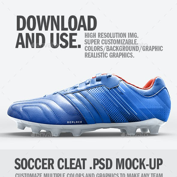 Soccer Cleat Realistic Mockup