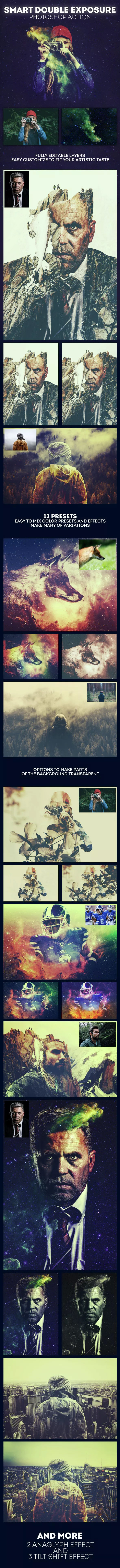 Smart Double Exposure - Photo Effects Actions